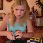 A Teenage Diabetic Tests her Blood Sugar